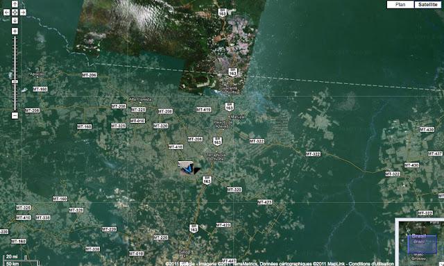 Colider au Mato Grosso, au sud-est d'Alta Fioresta