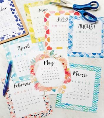 pretty free 2017 calendar