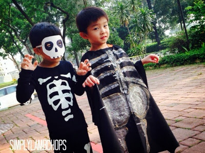 Homemade skeleton mask by Simply Lambchops