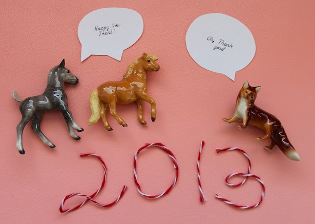 happy new year 2013 ponies and fox