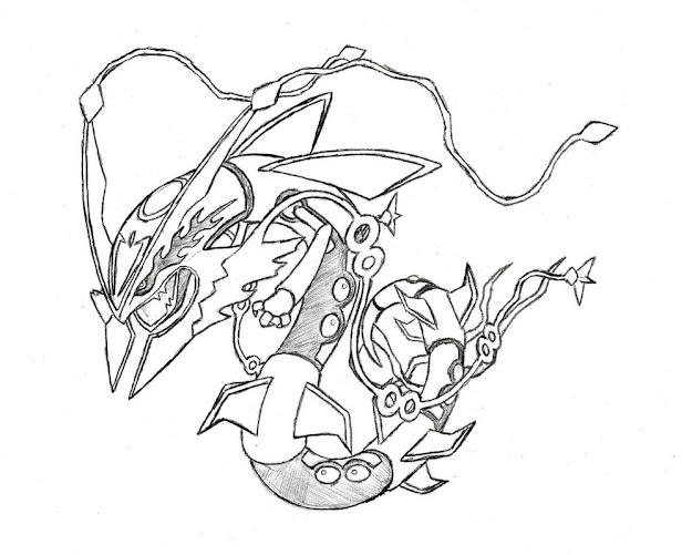 Legendary Pokemon Mega Rayquaza Coloring Pages