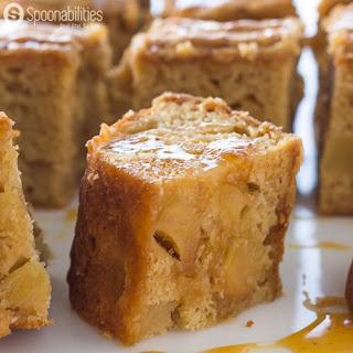 Salted Caramel Apple Blondies.