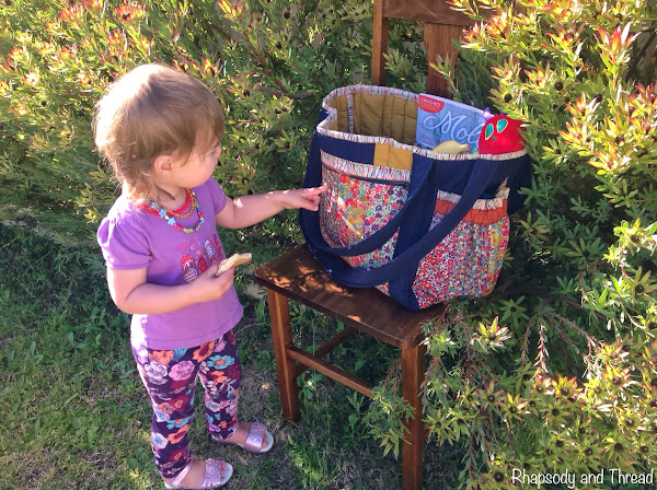 Liberty Nappy Bag by Rhapsody and Thread