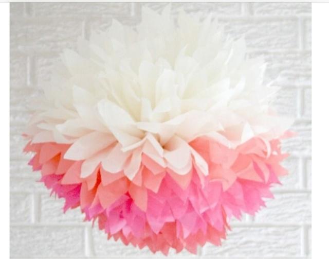 Como hacer pompones de papel de seda la c moda encantada - Pompones con papel de seda ...