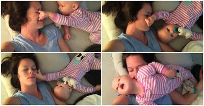Razões fofas que explicam por que dormir com bebés é não dormir