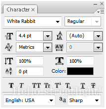 Initial font settings.