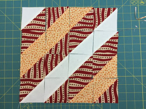 Block 12: 16 HST quilt sampler tutorial
