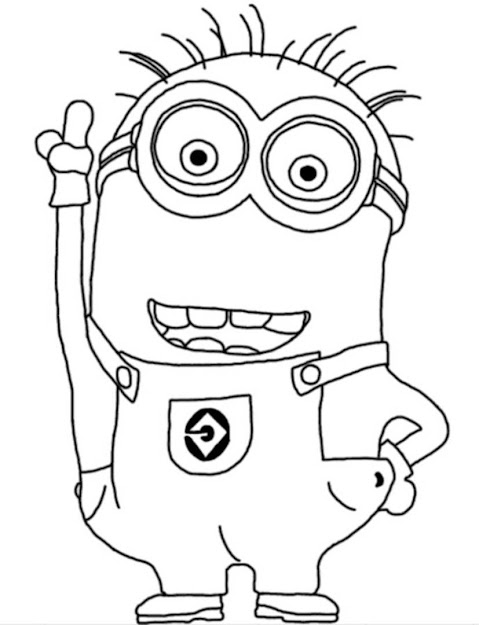 Colouring Pages To Print Minions