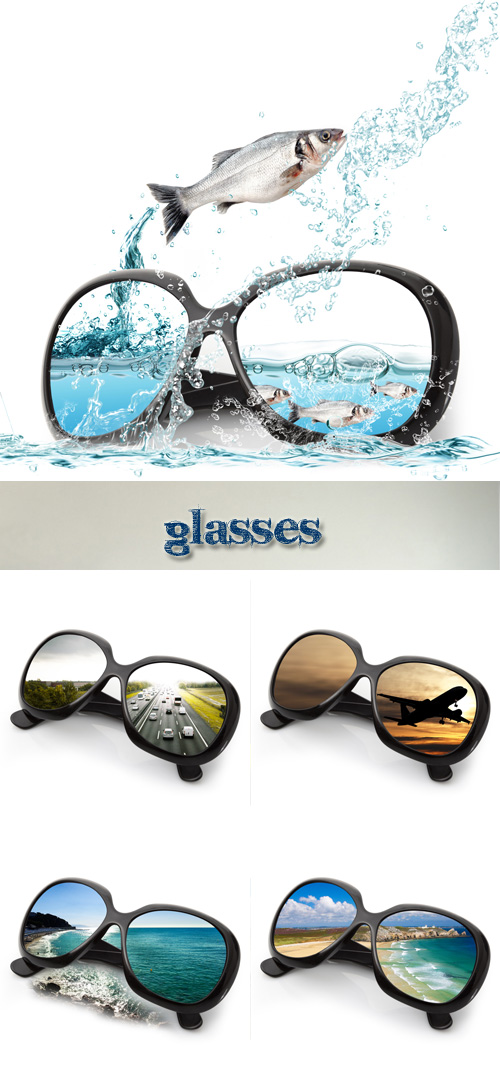 Stock Photo: Nature reflection in sunglasses