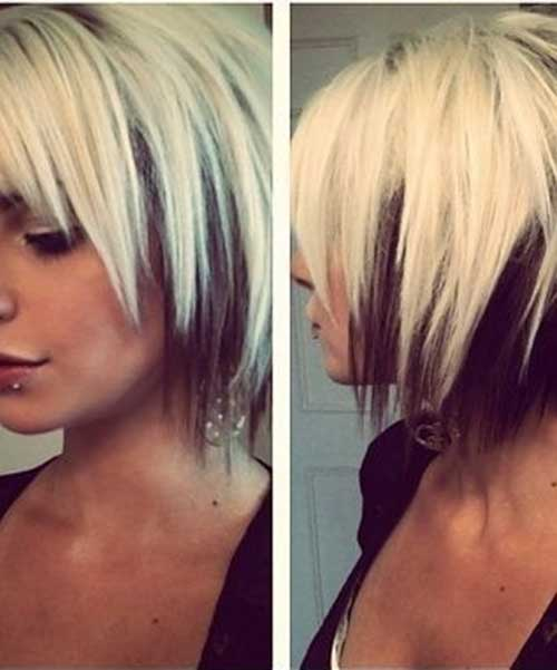 Awe Inspiring Short Blonde Hair With Brown Underneath Short Hair Fashions Short Hairstyles For Black Women Fulllsitofus
