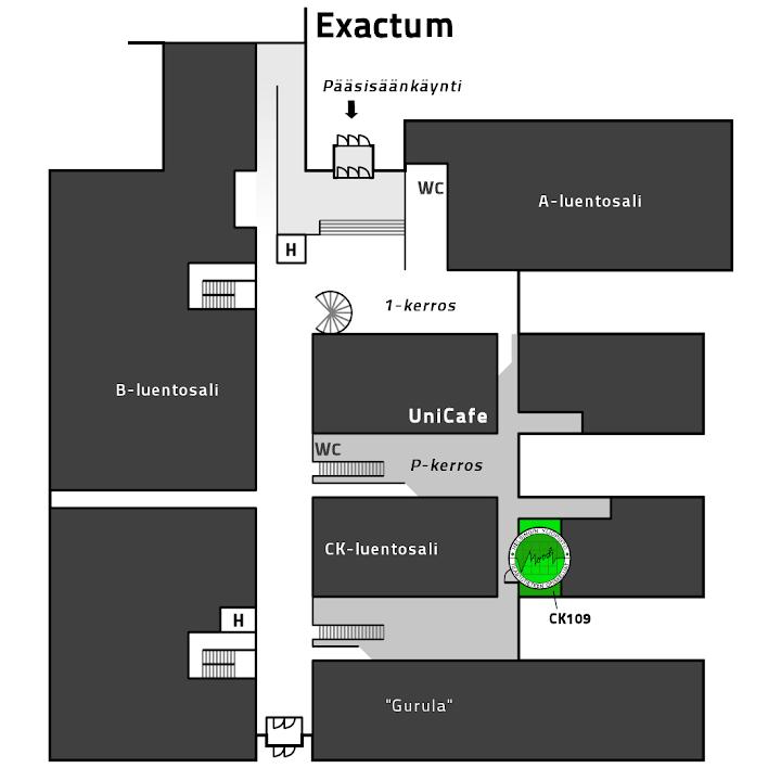 Floor plan of Exactum