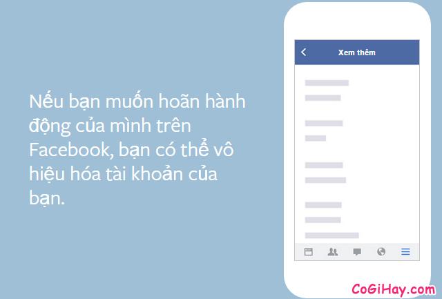 Cách tạm khóa tài khoản Facebook khi không dùng