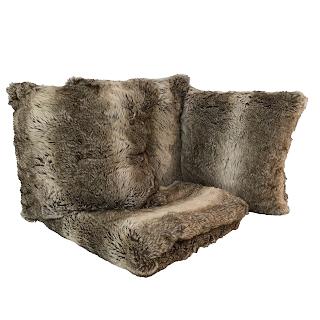 Patricia Altschul Faux Fur Blanket & 3 Pillows