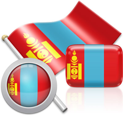 Mongolian flag icons pictures collection