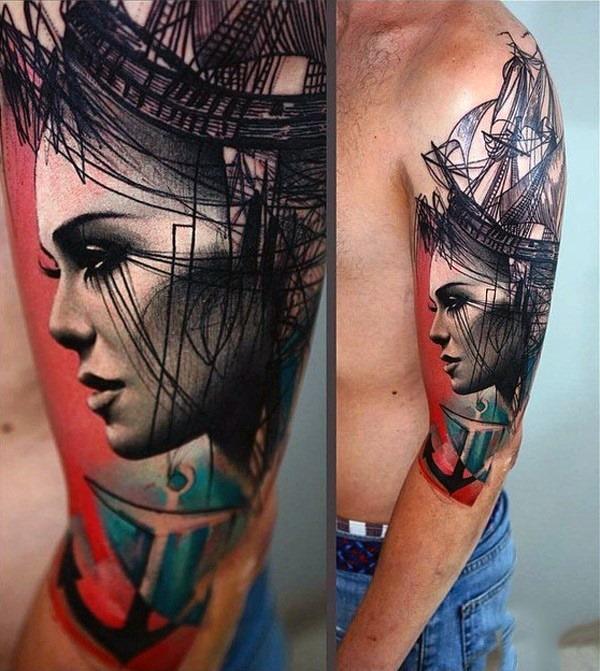 cara_navio_braço_de_tatuagem