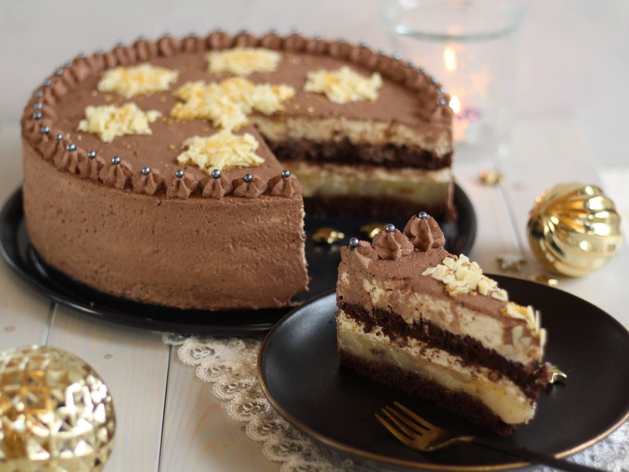 Weihnachtliche Birnen-Zimt-Torte: Die ultimative Weihnachtstorte - Rezept und Video von Sugarprincess | SCCC 2020: Türchen Nr. 6 | Gewinnspiel