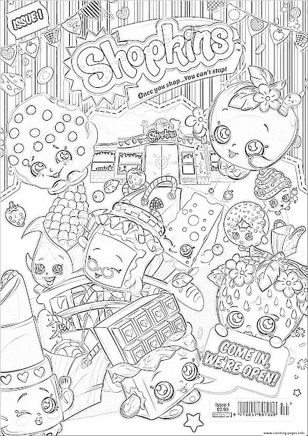 Print Shopkins We Are Open Coloring Pages