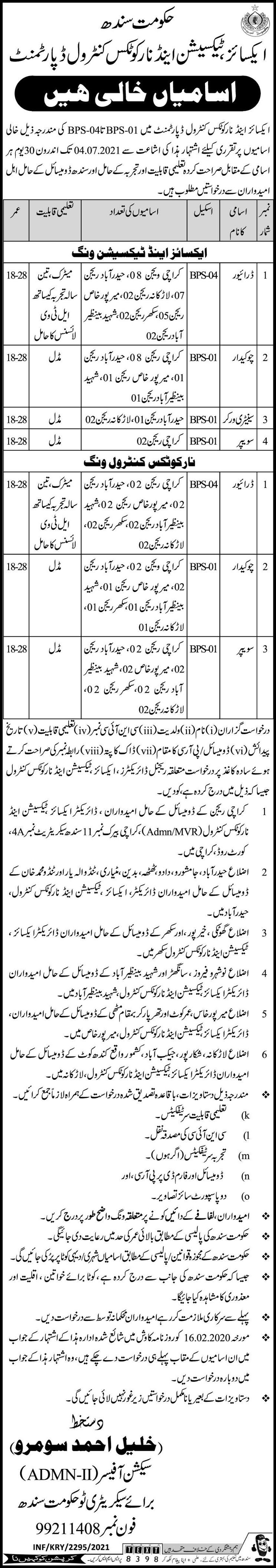 Excise and Taxation Department Jobs 2021