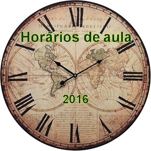 Horários de aula para 2016