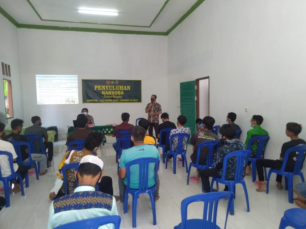 Satgas TMMD Kodim 1008/TJG Berikan Penyuluhan Anti Narkoba ke Pemuda Desa Lok Batu