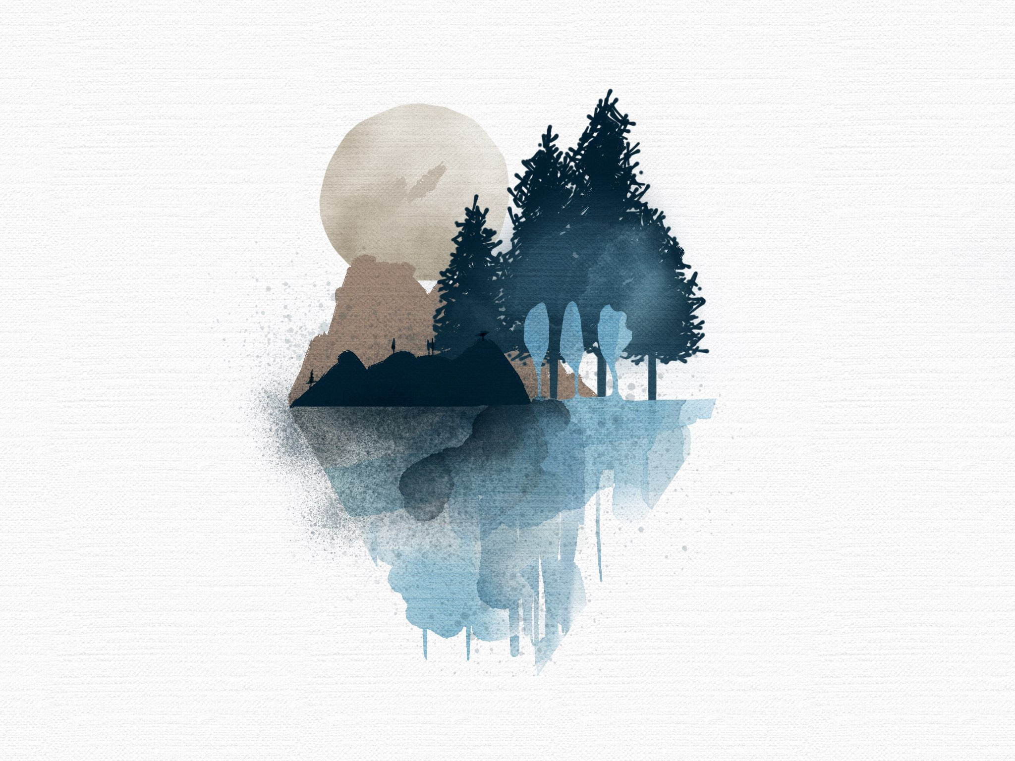 landscape made with Sketches