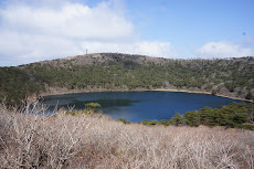 1 of 3 lakes in the old volcano craters in the mountains