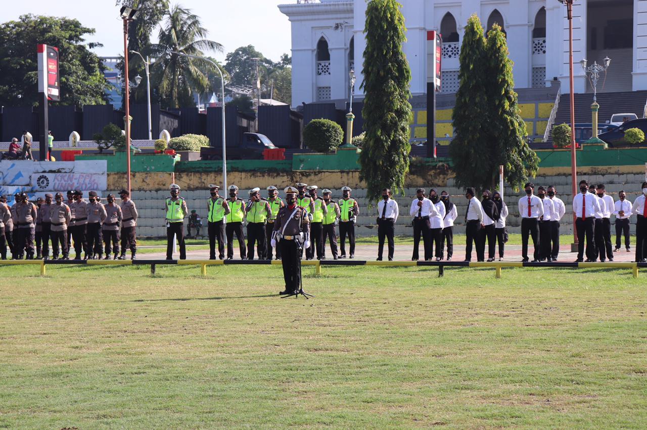 Polres Soppeng Melaksanakan Apel Gelar Pasukan Ops Keselamatan 2021