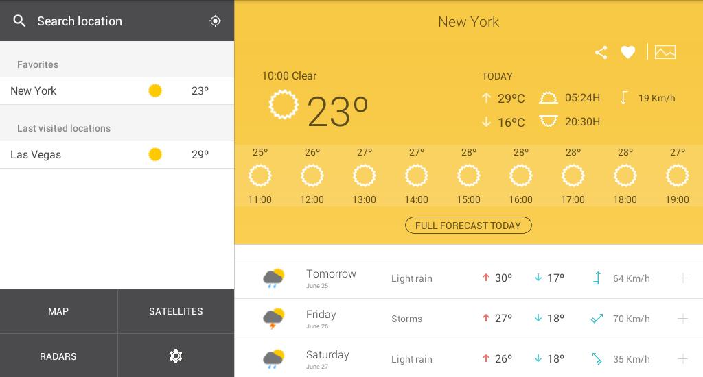 Weather 14 days - screenshot