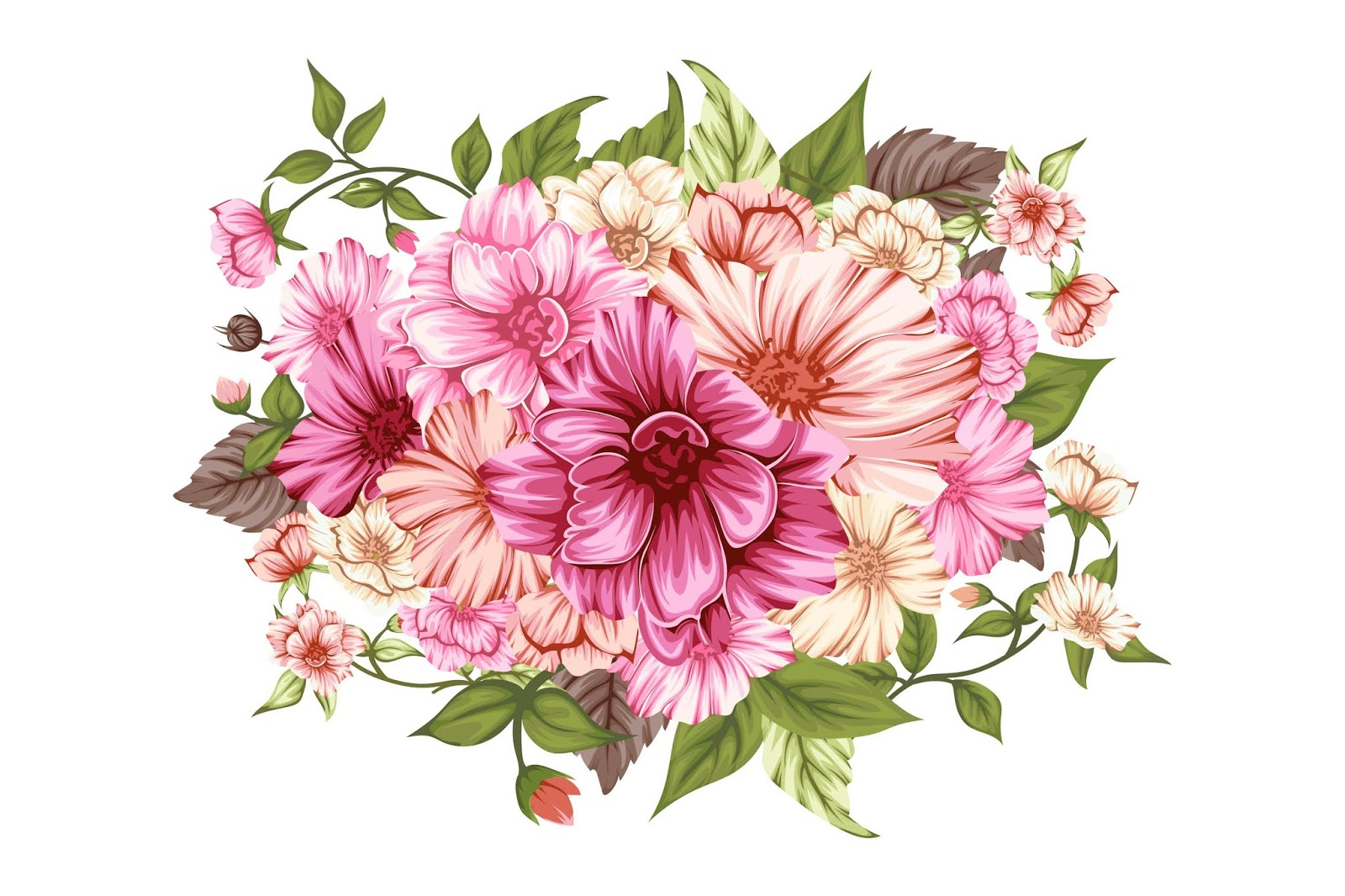 Beautiful Spring Bouquet Of Flowers Free Download Vector CDR, AI, EPS and PNG Formats