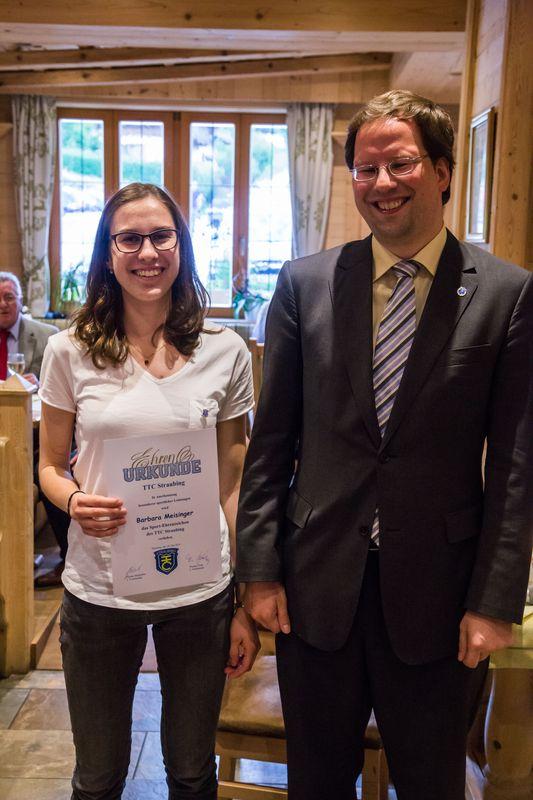 """""""70 Jahre TTC Straubing"""": Ehrung für besondere sportliche Leistungen"""