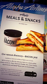 Congrats @skilletstfood on being highlighted by @AlaskaAir & getting more bacon jam fans! #bacon #baconjam #eatlocal