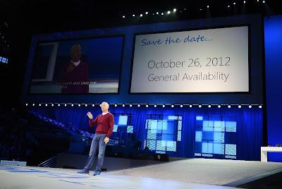 Windows 8の発売日の発表時の様子