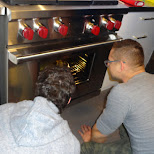 the boys being blown away by oven abilities in Toronto, Ontario, Canada