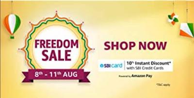 Amazon india FREEDOM SALE