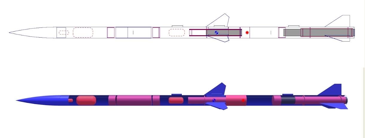 Pollux-Castor model dwustopniowy