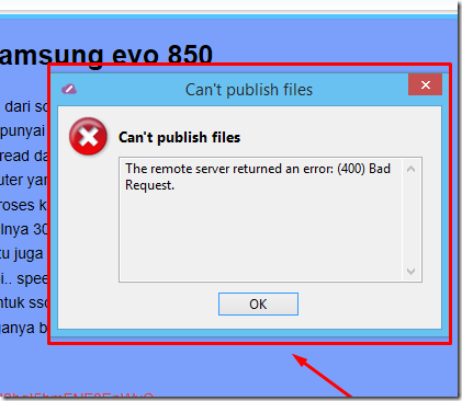 memperbaiki error 400 bad request