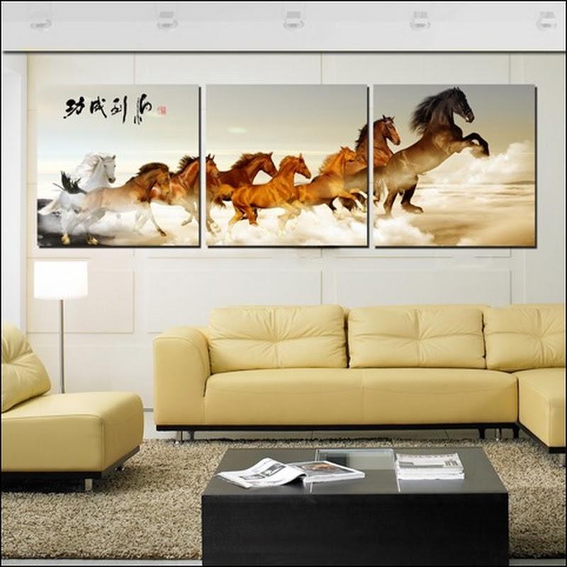 ภาพกรอบลอย ม้ามงคล 8 ตัว เสริม ฮวงจุ้ย มงคล โชคลาภ ความสวยงามแก่บ้าน 1