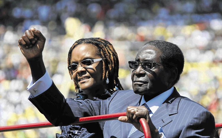 Zimbabwean President Robert Mugabe and his wife Grace. File photo.