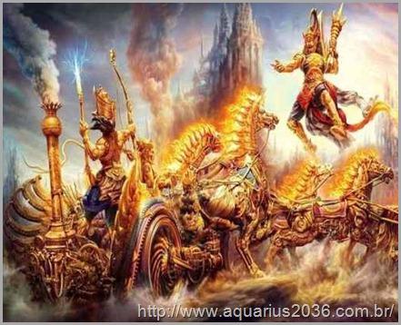 carruagens aladas nas guerras dos deuses