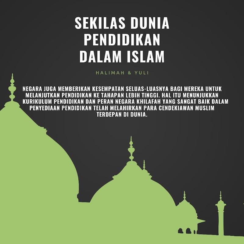 SEKILAS DUNIA PENDIDIKAN ISLAM