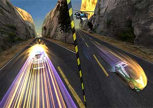 لعبة سباق سيارات ثلاثية الابعاد