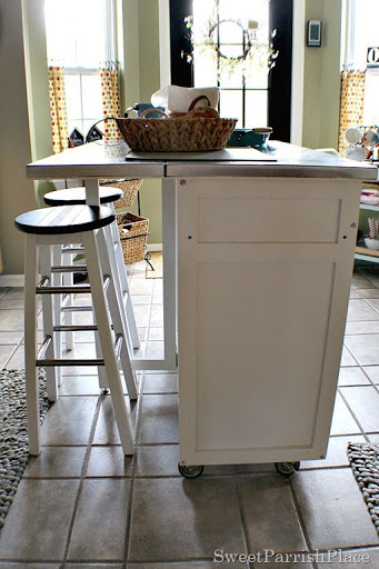 DIY Kitchen Island Leg Installation