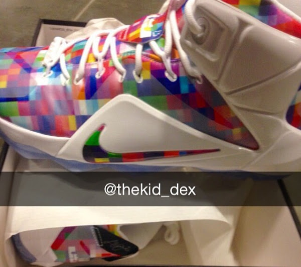 Nike Sportswears LeBron 12 EXT Prism  First Look