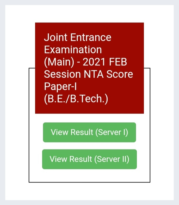 JEE Main Result 2021 | Check Your Score Here