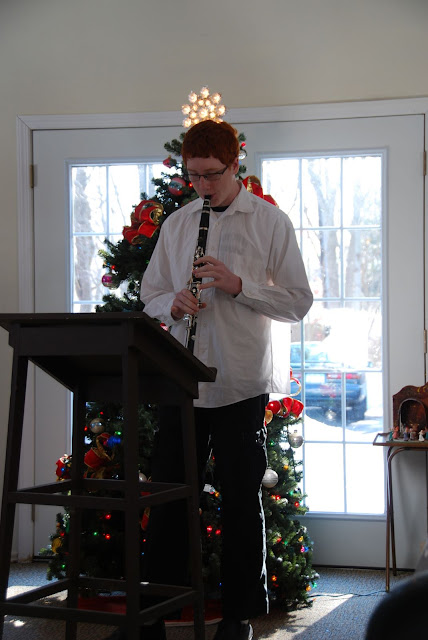 Kevin on clarinet solo.