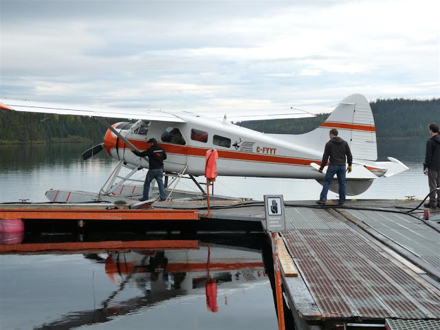 The plane that flew Claude up to Lac Fourchette