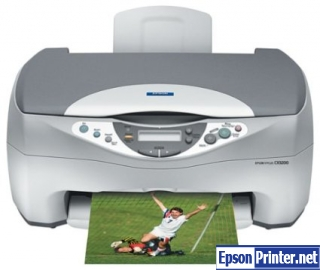Reset Epson CX3200 printer by application