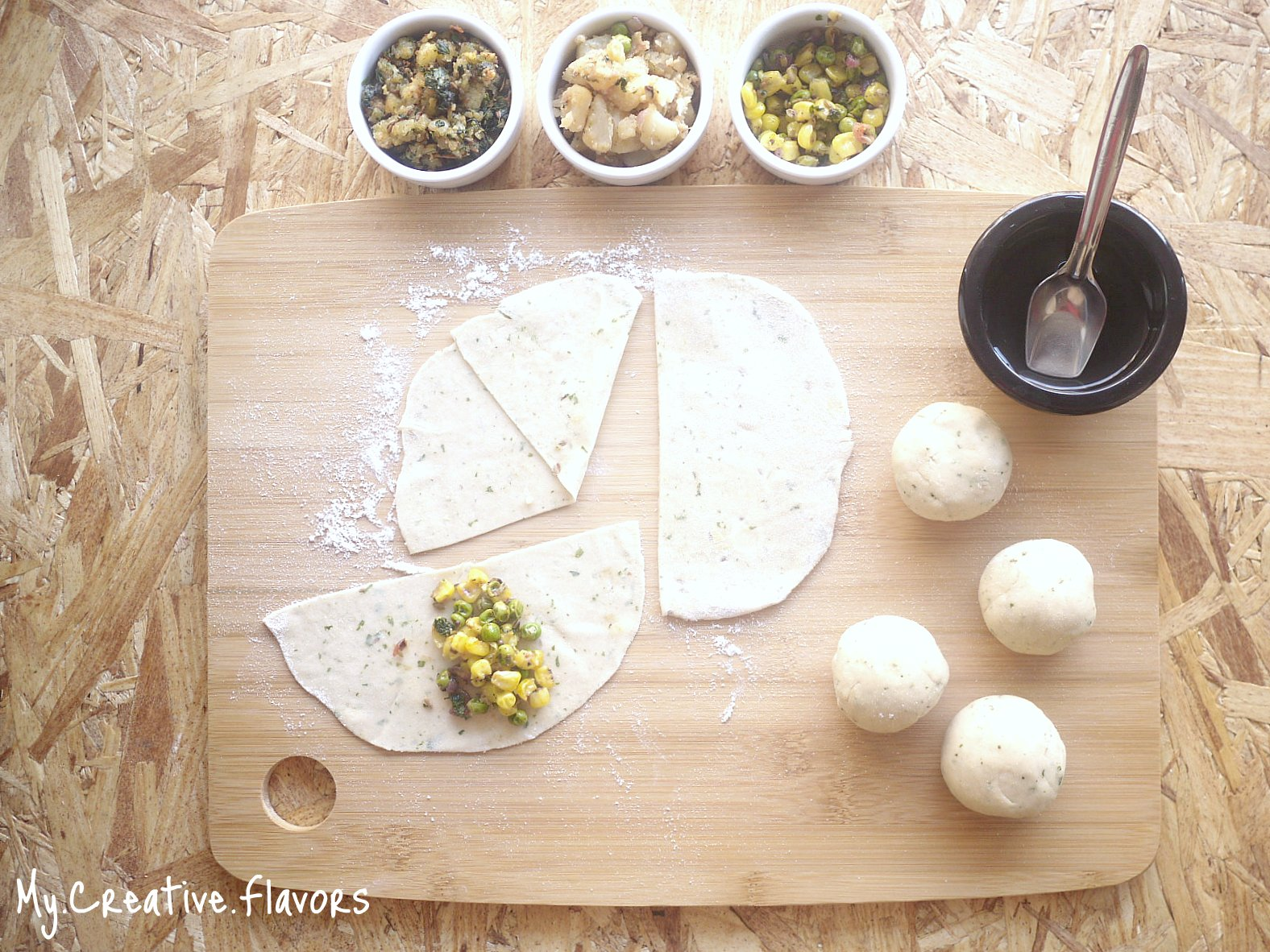My Creative Flavors: Classic Samosa with Four Fillings - Potato ...