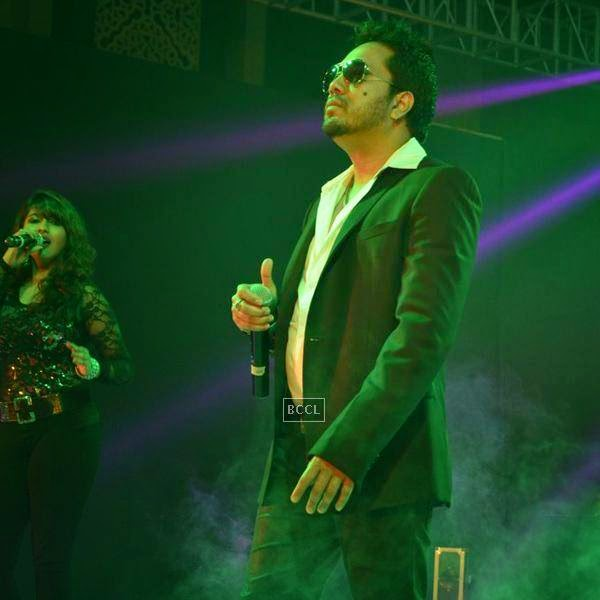 Mika performs during the launch of Leading Jewellers of the world presents Ticket to Bollywood by Gitanjali Gems Pvt Ltd in Mumbai. (Pic: Viral Bhayani)