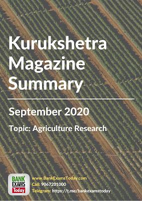 Kurukshetra Magazine Summary: September 2020